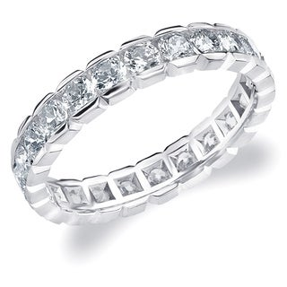Amore 10K White Gold 1.5 CTTW Eternity Diamond Wedding Ring - White I-J