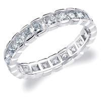 Amore 10K White Gold 1.5 CTTW Eternity Diamond Wedding Ring - White I-J