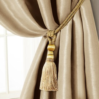 Amelia Tassel Curtain Tieback Rope (Option: Natural)