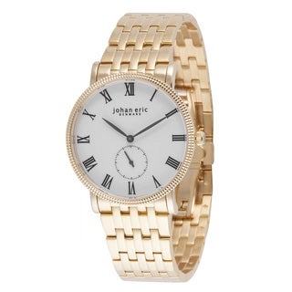Johan Eric Men's Swiss Quartz Rose tone Link Bracelet Watch