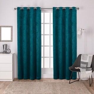 ATI Home Antique Shantung Blackout Grommet Top Curtain Panel Pair