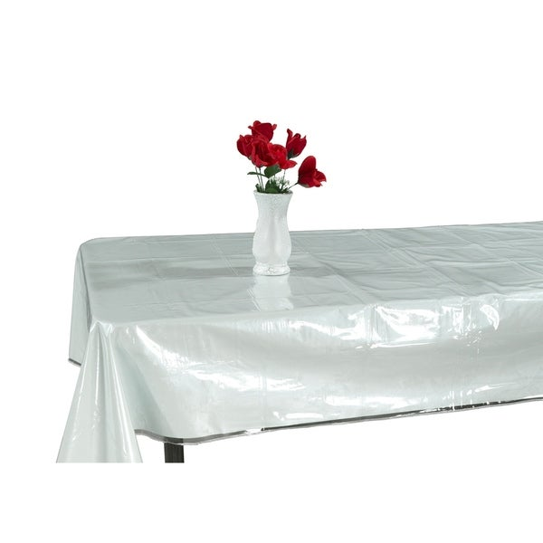 Shop Berrnour Home Kitchen Clear Table Cover Protector White Edges