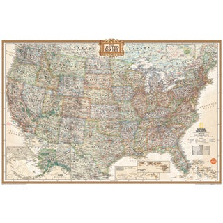 WallPops National Geographic USA Dry-erase Map Decal