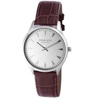 Johan Eric Men's Swiss Quartz Brown Leather Strap Watch