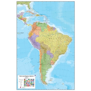 WallPops South America Dry Erase Map