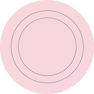 WallPops Gigi Pink Concentric Dot Decals
