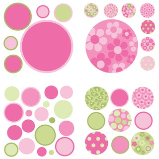 WallPops Pink and Green Gone Dotty MiniPops