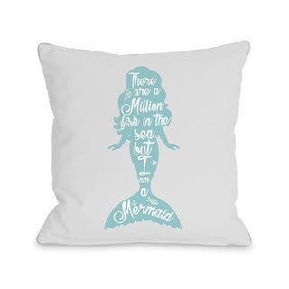 OBC But I Am A Mermaid Grey Throw Pillow