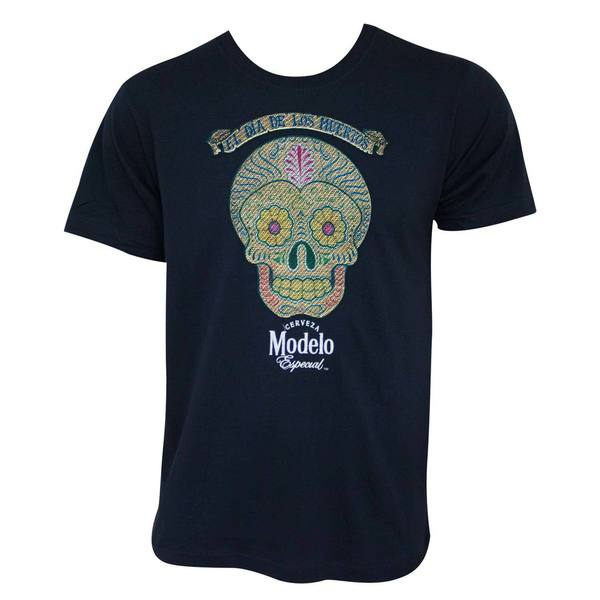 Modelo Especial Embroidered Skull Logo Tee Shirt
