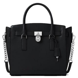 Michael Kors Hamilton Large East West Black Satchel Handbag