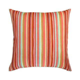 18-inch Indoor/Outdoor Cala Watermelon Colorful Stripes in Orange Red Blue - Pillow Cover Only (Set of 2)