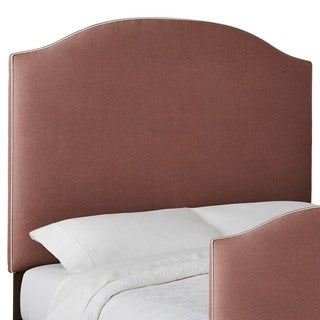 Custom Textured Contrasting Piping High Profile Arched Upholstered Headboard