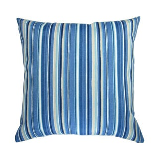 18-inch Indoor/Outdoor Cala Sapphire Stripes in Blue - Pillow Cover Only (Set of 2)