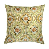 Artisan Pillows 18-inch Indoor/Outdoor Modern Colorful Geometric Spanish Medallion Print - Pillow Cover Only (Set of 2)