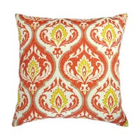 Artisan Pillows 18-inch Indoor/Outdoor Modern Geometric Medallion Print in Orange and Yellow - Pillow Cover Only (Set of 2)