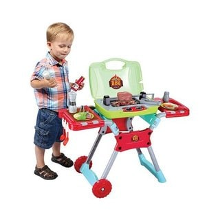 Kid's BBQ 20 Piece Portable Playset with Light and Sound