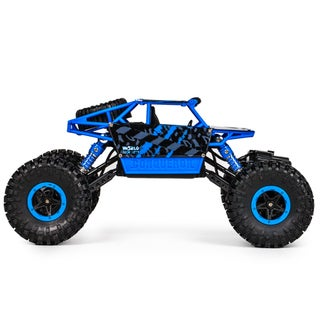1:18 CONQUEROR 2.4Ghz 4x4 RC Rock Crawler- Blue