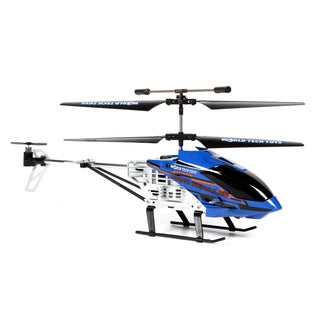 Nano Hercules Unbreakable Helipilot 2.4GHz 3.5CH Remote Control Helicopter- Blue