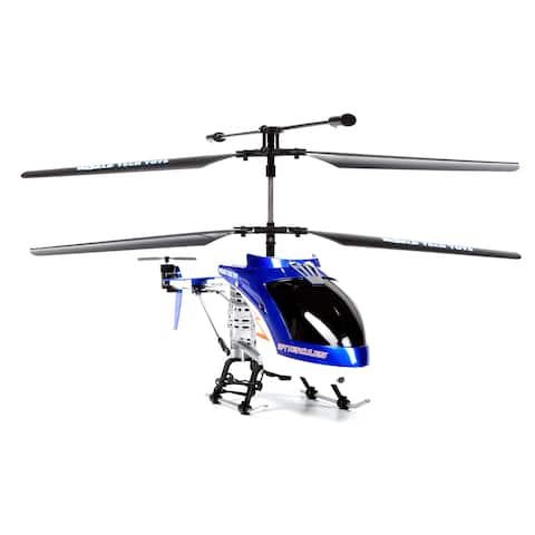Spy Hercules Camera Unbreakable 3.5CH RC Helicopter - Blue