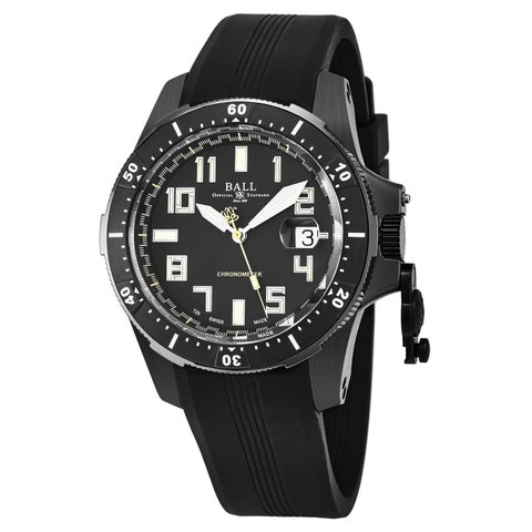 Ball Men's K 'Engineer Hydrocarbon' Black Dial Black Rubber Strap Swiss Automatic Watch