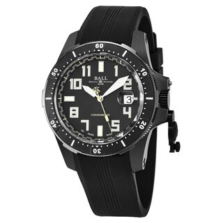 Ball Men's DM2176A-P1CAJ-BK 'Engineer Hydrocarbon' Black Dial Black Rubber Strap Swiss Automatic Watch