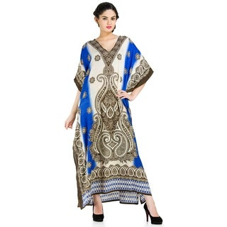 African Pleasingly Colored Plus Size Caftan