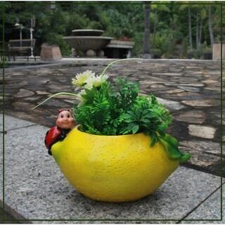 SINTECHNO SNF16142 Ladybug on Lemon Flower Pot Planter