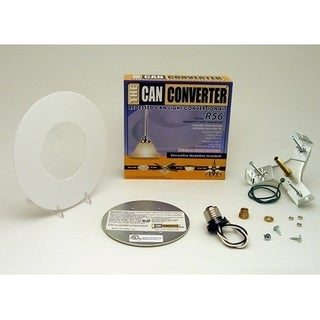 "Light Recessed Flat Can Converter R56-RMB-WHT Conversion Kit for 5"" and 6"" Cans"
