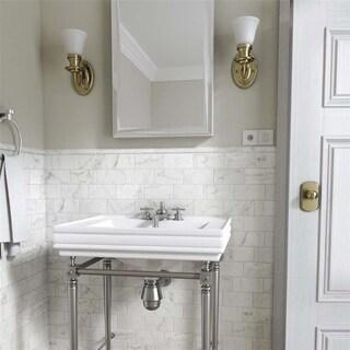 SomerTile 3x6-inch Carra Carrara Matte Ceramic Wall Tile (88 tiles/12.41 sqft.)