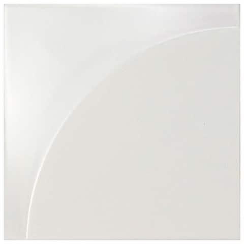 SomerTile 5.875x5.875-inch Magico 3D Curve Matte White Ceramic Wall Tile (18 tiles/4.7 sqft.)