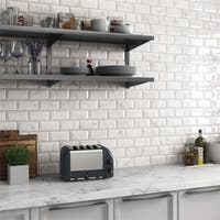 SomerTile 3x6-inch Carra Carrara Glossy Metro Ceramic Wall Tile (88 tiles/12.41 sqft.)
