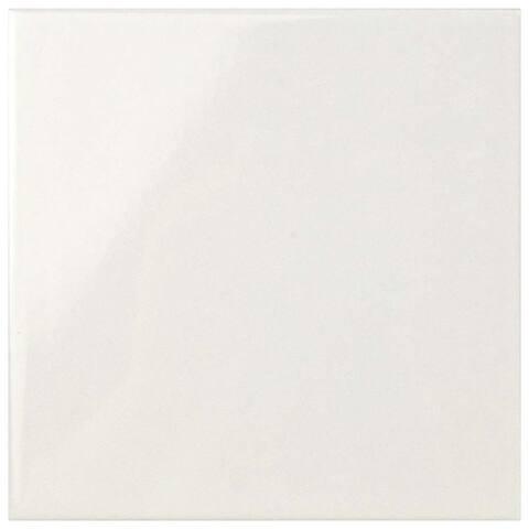 SomerTile 5.875x5.875-inch Magico Evolution Glossy White Ceramic Wall Tile (44 tiles/11.48 sqft.)