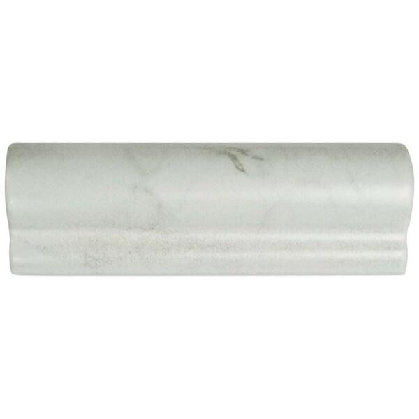 Shop SomerTile 2x6-inch Carra Carrara Matte London Chair
