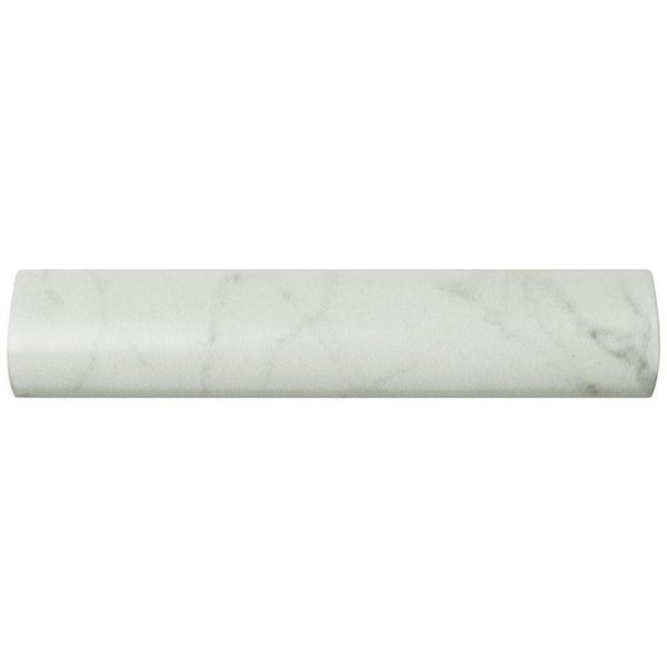 Shop Somertile 1 25x6 Inch Carra Carrara Matte Pencil