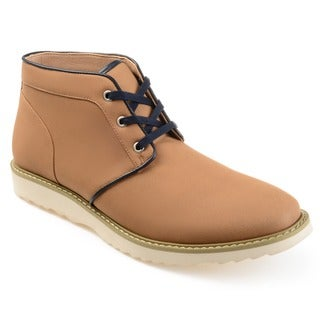 Vance Co. Men's 'Banner' Faux Suede Lace-up Chukka Boots