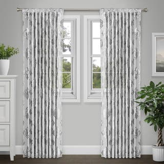 Journee Home 'Jeanne' 84-in Sheer Metallic Curtain Panel|https://ak1.ostkcdn.com/images/products/17038000/P23315459.jpg?impolicy=medium