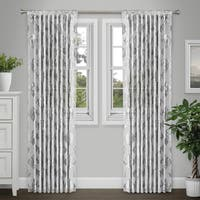Journee Home 'Jeanne' 84-in Sheer Metallic Curtain Panel