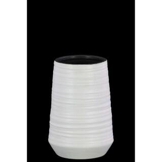 UTC45724 Ceramic Round SM Vase Coated Finish White