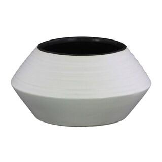 UTC45729 Ceramic Round LG Vase Coated Finish White