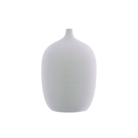 UTC51002 Ceramic Round LG Vase Coated Finish White