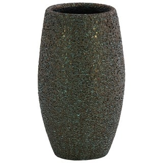 UTC51405 Ceramic Round LG Vase Earth Tone Finish Livid