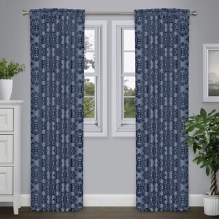 Journee Home 'Portico' 84-in Sheer Velvet Curtain Panel (5 options available)