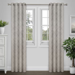 Journee Home 'Lora' 84-in Grommet Blackout Curtain Panel Pair|https://ak1.ostkcdn.com/images/products/17038196/P23315450.jpg?impolicy=medium
