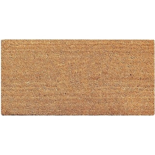 A1HC First Impression PVC Tufted Plain Coir Doormat with More Clean Area