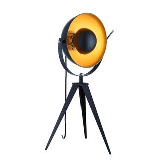 "Link to Euro Style Collection Madrid 25"" Studio Table Lamp-Black/Gold Similar Items in Desk Lamps"