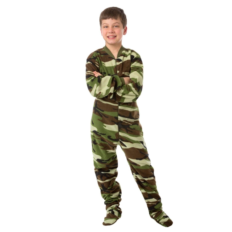 Camouflage Fleece Bodysuit Footed Pajamas (S-7/8), Kids U...