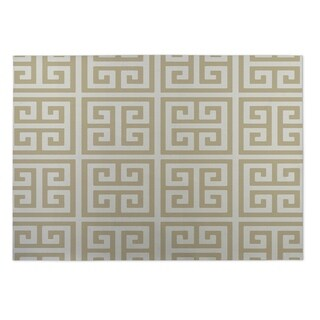 Kavka Designs Gold Infinity Keys Indoor/Outdoor Floor Mat (8' X 10')