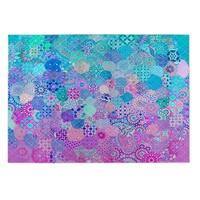 Kavka Designs Blue/Purple/Pink Moroccan Dream Indoor/Outdoor Floor Mat (8' X 10') - 8' x 10'