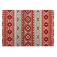 Kavka Designs Red Santa Fe Indoor/Outdoor Floor Mat (8' X 10')