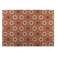 Kavka Designs Rust/Grey Origami Indoor/Outdoor Floor Mat (8' X 10')